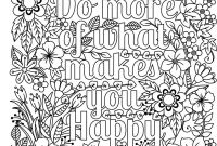 Positive Affirmation Coloring Pages - Do More Of What Makes You Happy Coloring Page for Adults & Kids