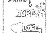 Positive Affirmation Coloring Pages - Faith Hope Love Coloring Page Printables Pinterest