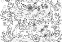 Positive Affirmation Coloring Pages - Free Inspirational Quote Adult Coloring Book Image From Liltkids