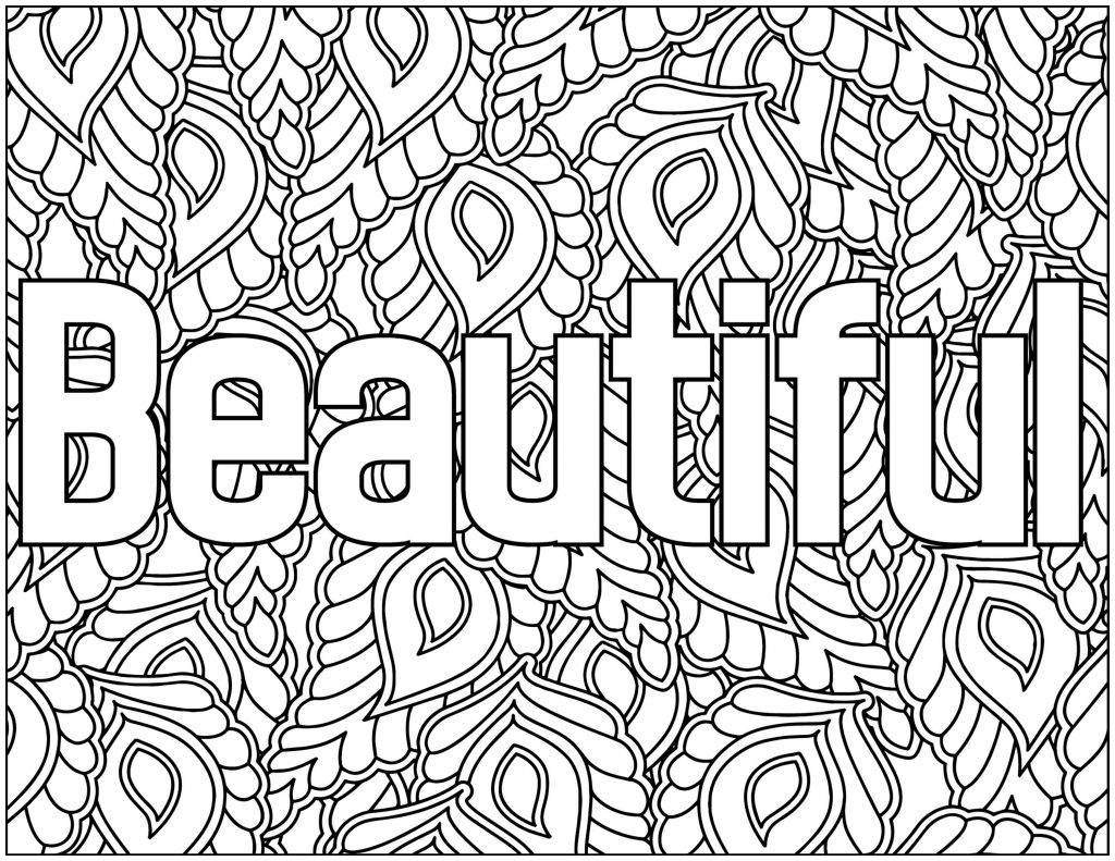 Positive Affirmation Coloring Pages  Collection 6d - To print for your project