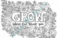 Positive Affirmation Coloring Pages - Printable Floral Coloring Page Inspirational Adult Coloring Page