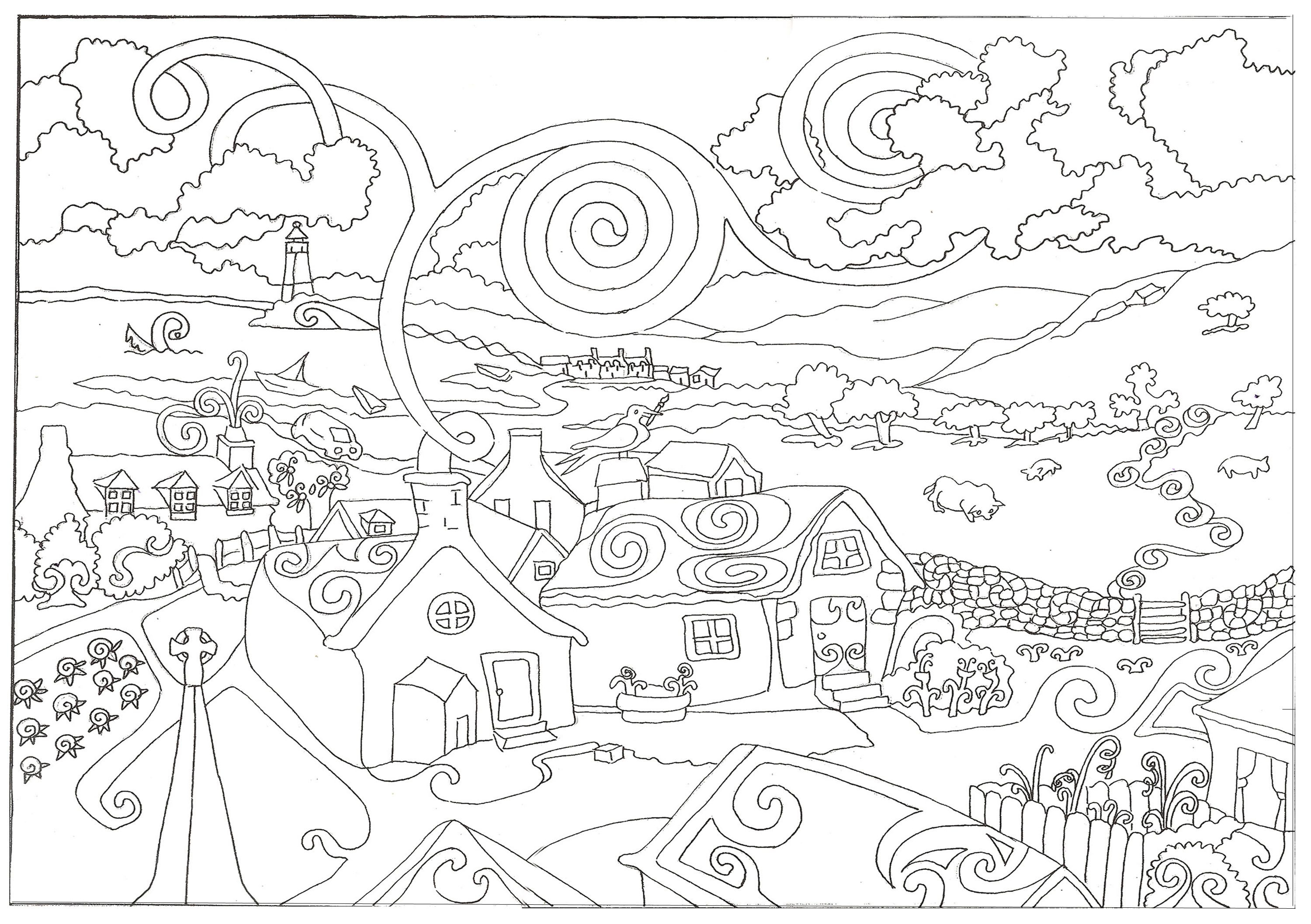 Postcards Coloring Pages  Printable 9j - Free For kids