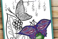 Postcards Coloring Pages - This Beautiful butterfly Coloring Page is Relaxing to Color