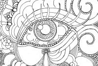 Poster Size Coloring Pages - Eye Want to Be Colored Adult Coloring Page by Personatalieart