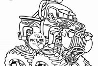 Printable Coloring Pages Monster Trucks - 15 New Cars and Trucks Coloring Pages