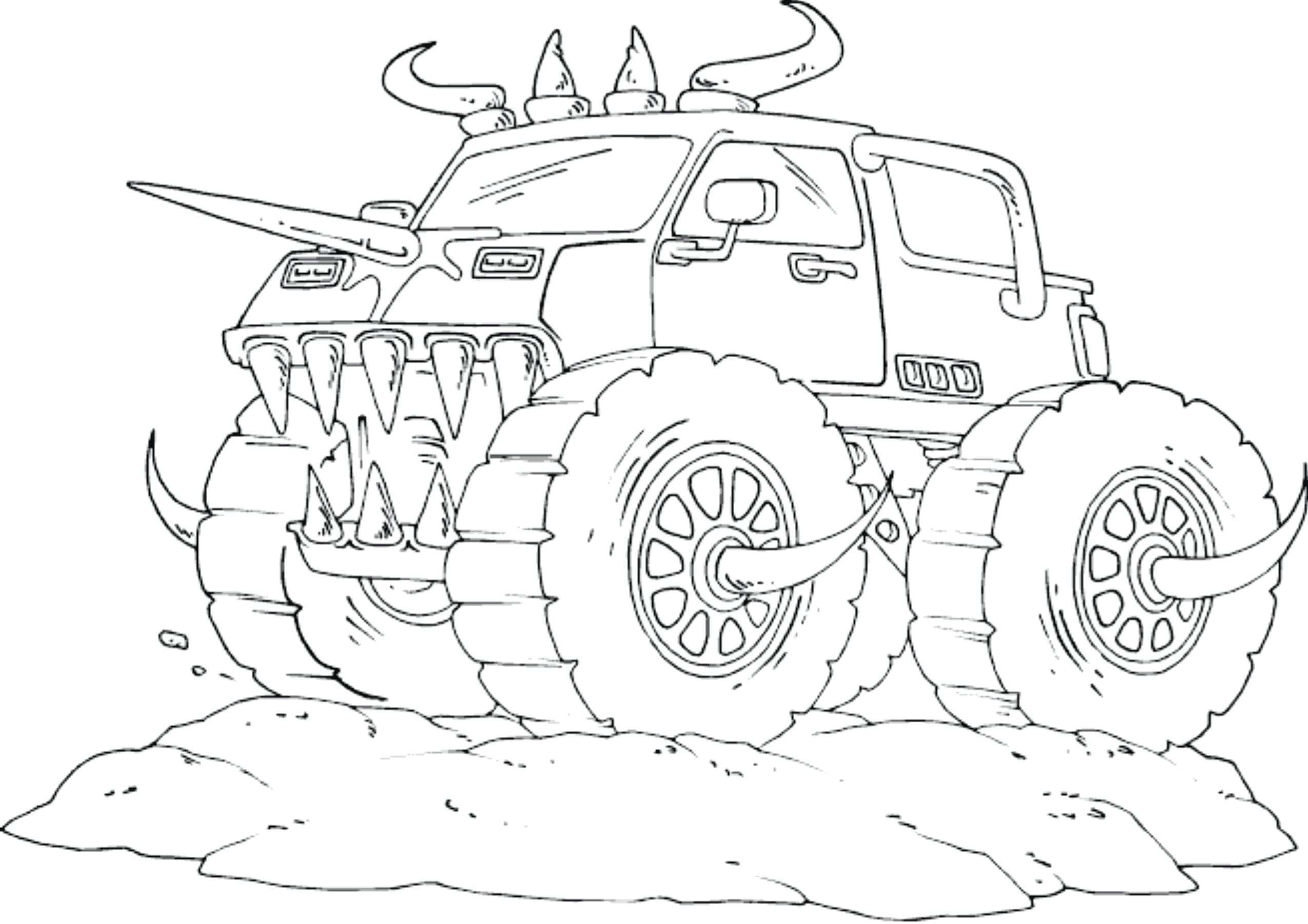 Printable Coloring Pages Monster Trucks  Gallery 16e - Free For kids