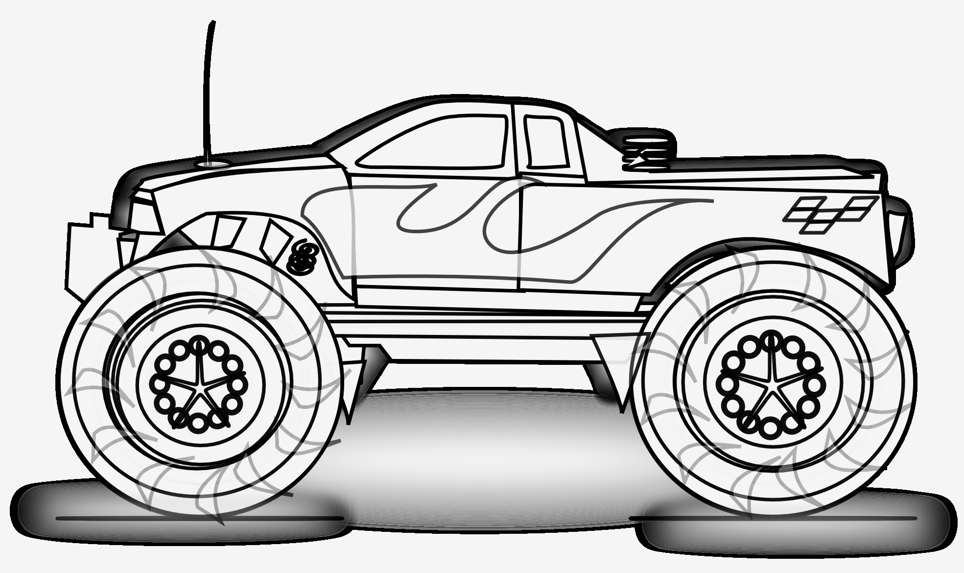 Printable Coloring Pages Monster Trucks  Gallery 15s - Free Download
