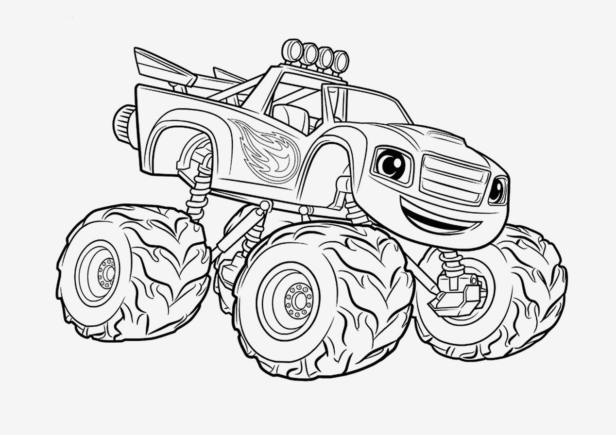 Printable Coloring Pages Monster Trucks  Gallery 5a - Free Download
