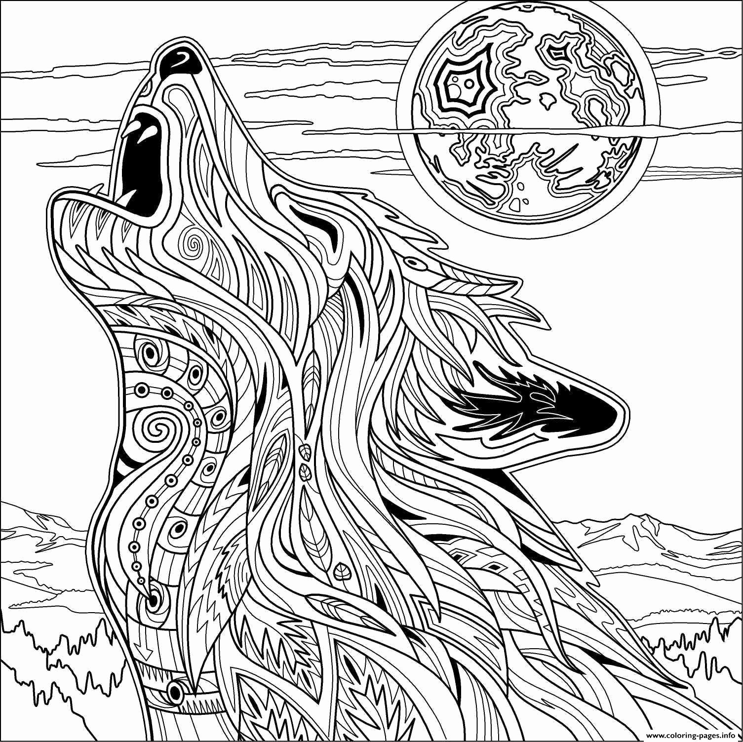 Printable Coloring Pages Of Wolves  Download 3k - Free For kids