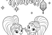 Printable Shimmer and Shine Coloring Pages - Shimmer and Shine Free Coloring Pages