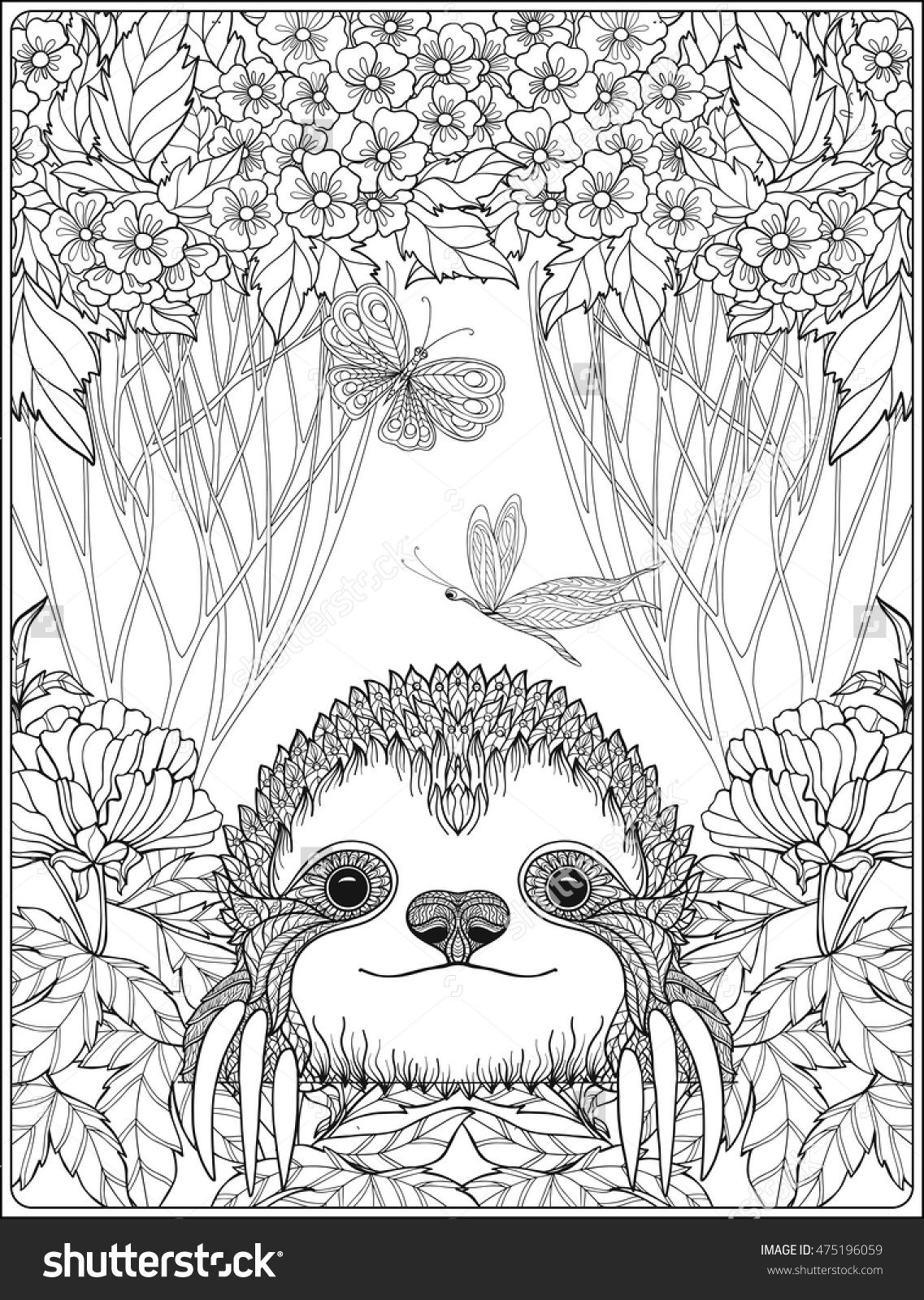 Printable Sloth Coloring Pages  Gallery 8p - To print for your project