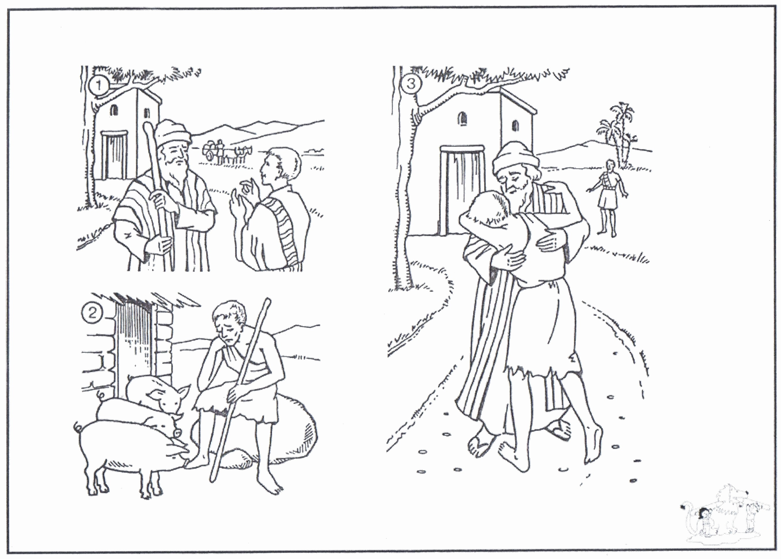 Prodigal son Coloring Pages  Printable 9l - Free Download