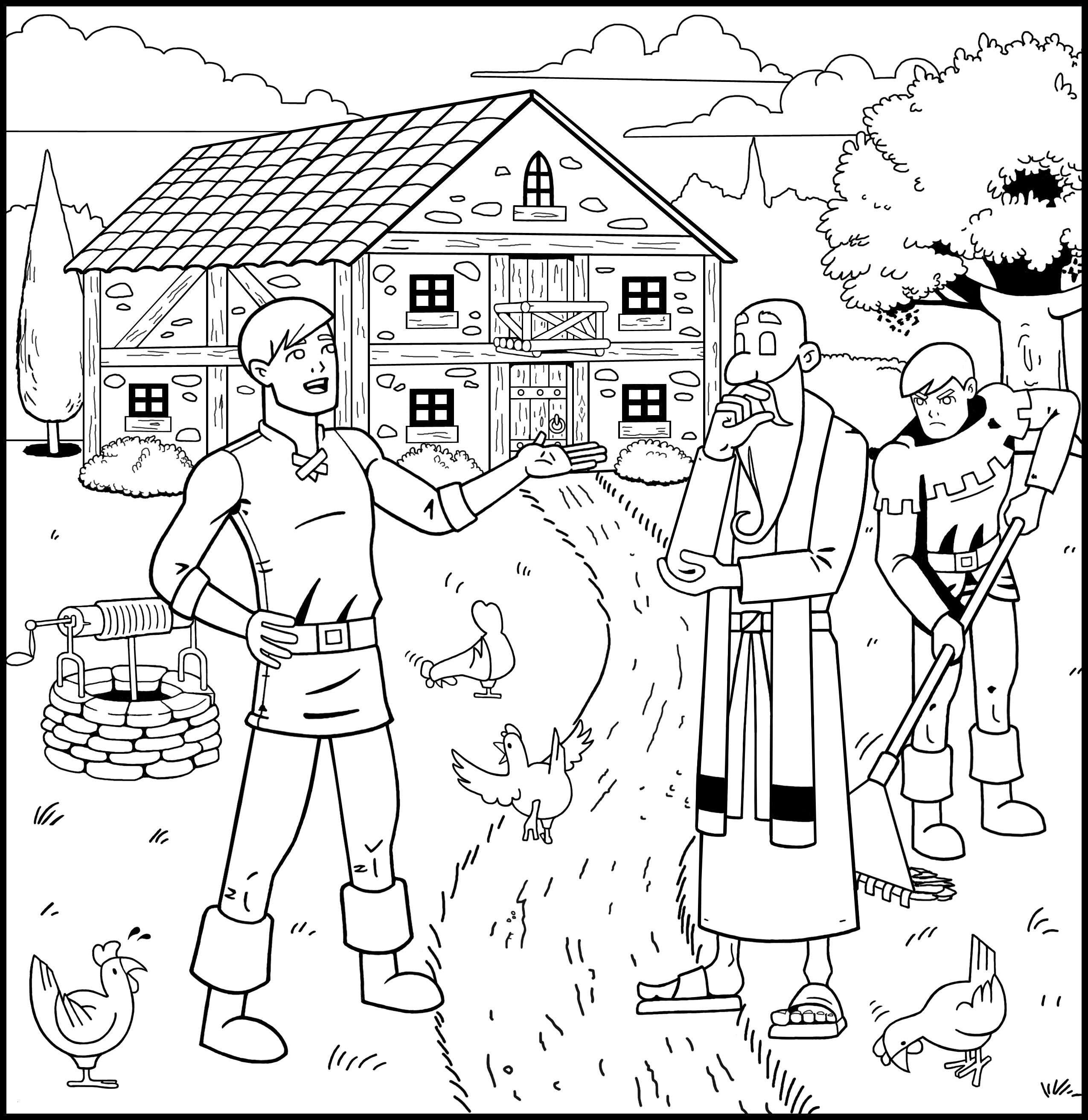 Prodigal son Coloring Pages  Printable 7e - To print for your project