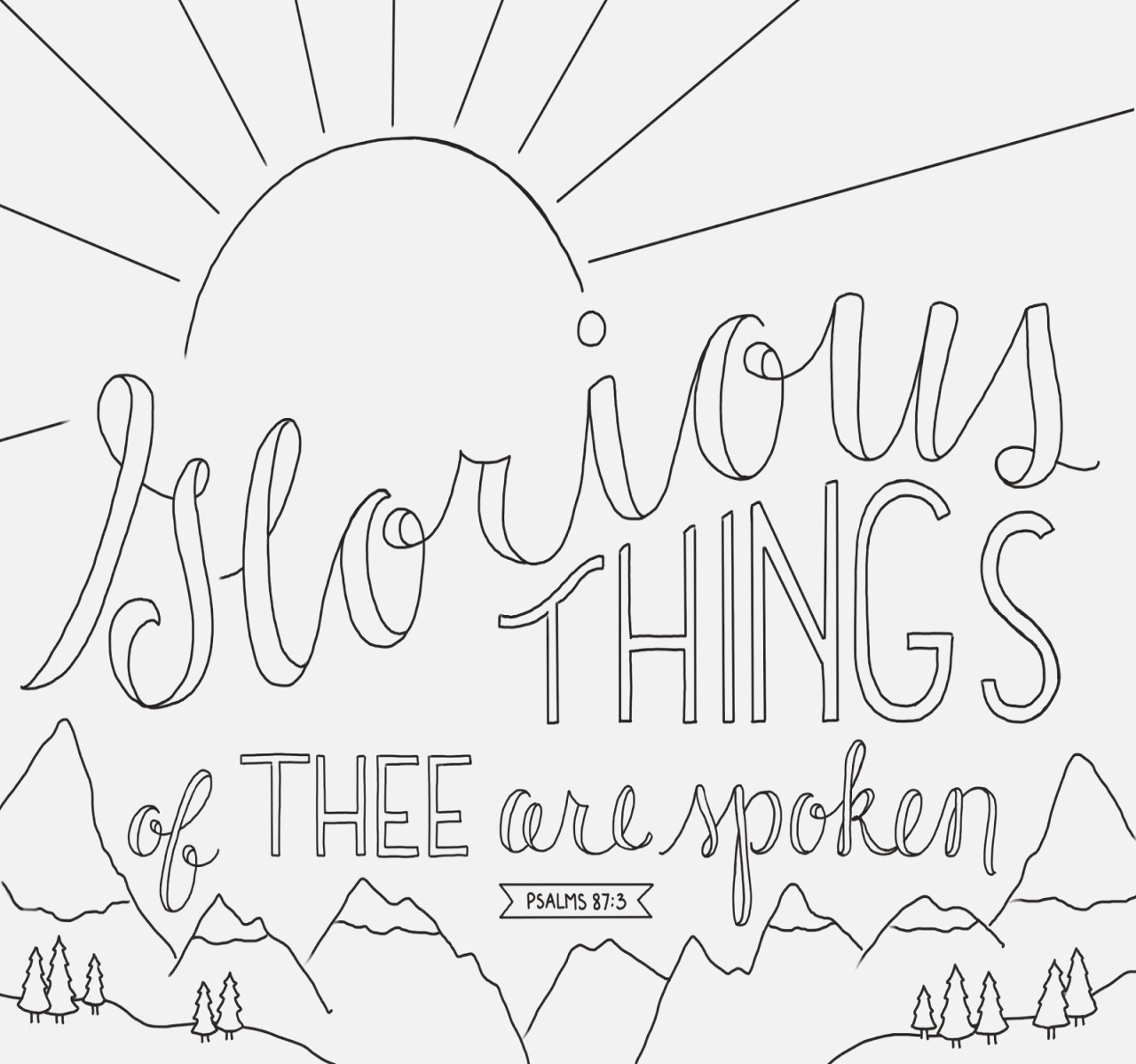 Psalms Coloring Pages  Gallery 14b - To print for your project
