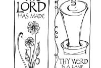 Psalms Coloring Pages - Psalm 119 105 Coloring Pages