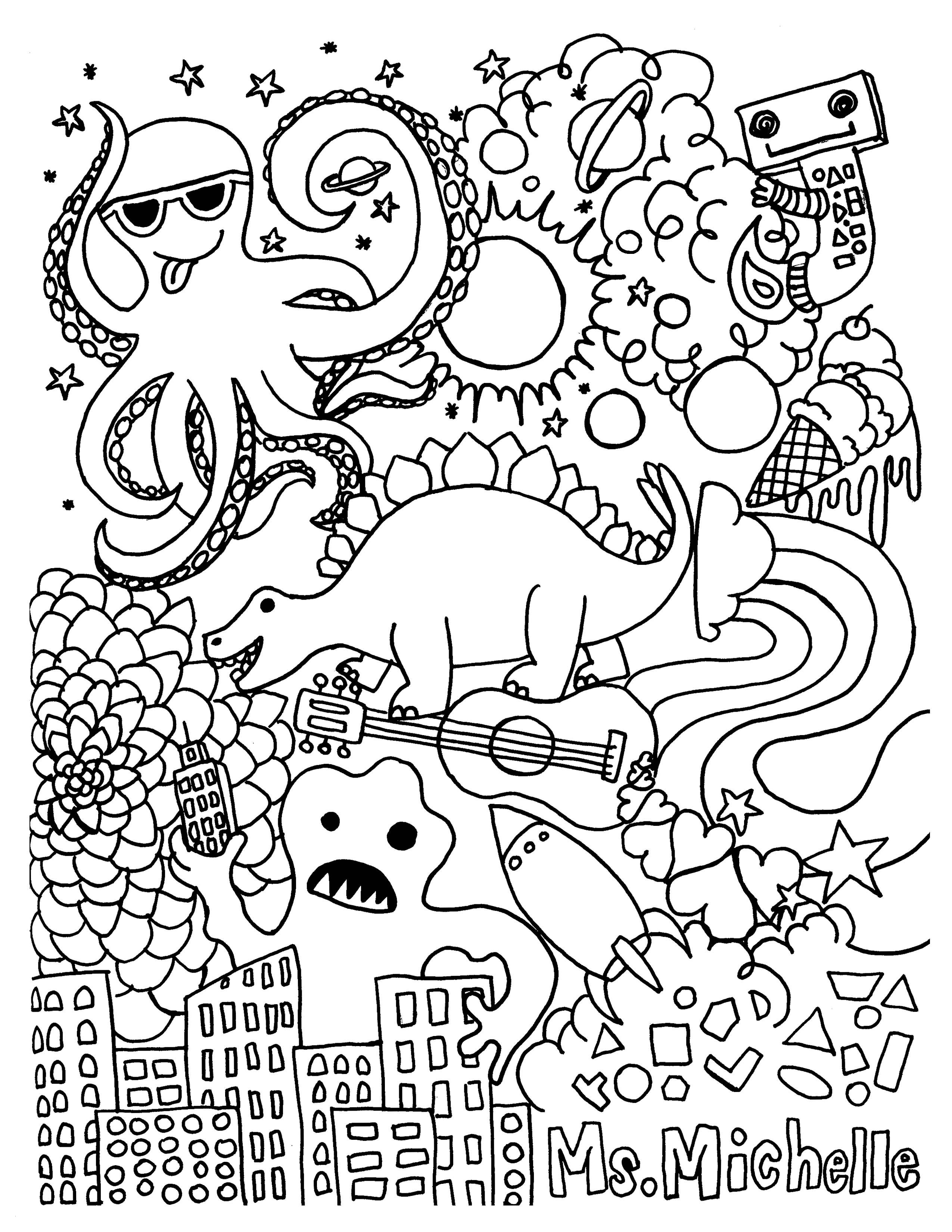 Psychedelic Coloring Pages  Printable 17b - Free For Children