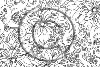 Psychedelic Coloring Pages - Image Detail for Download Coloring Page Hand Drawn Zentangle