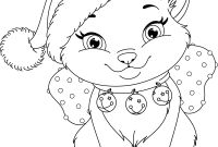 Realistic Cat Coloring Pages - 28 Collection Of Christmas Kitten Coloring Pages
