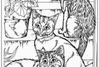 Realistic Cat Coloring Pages - Adult Coloring Pages Cats Printable