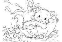 Realistic Cat Coloring Pages - Draw Kitten Printable Coloring Cute Que