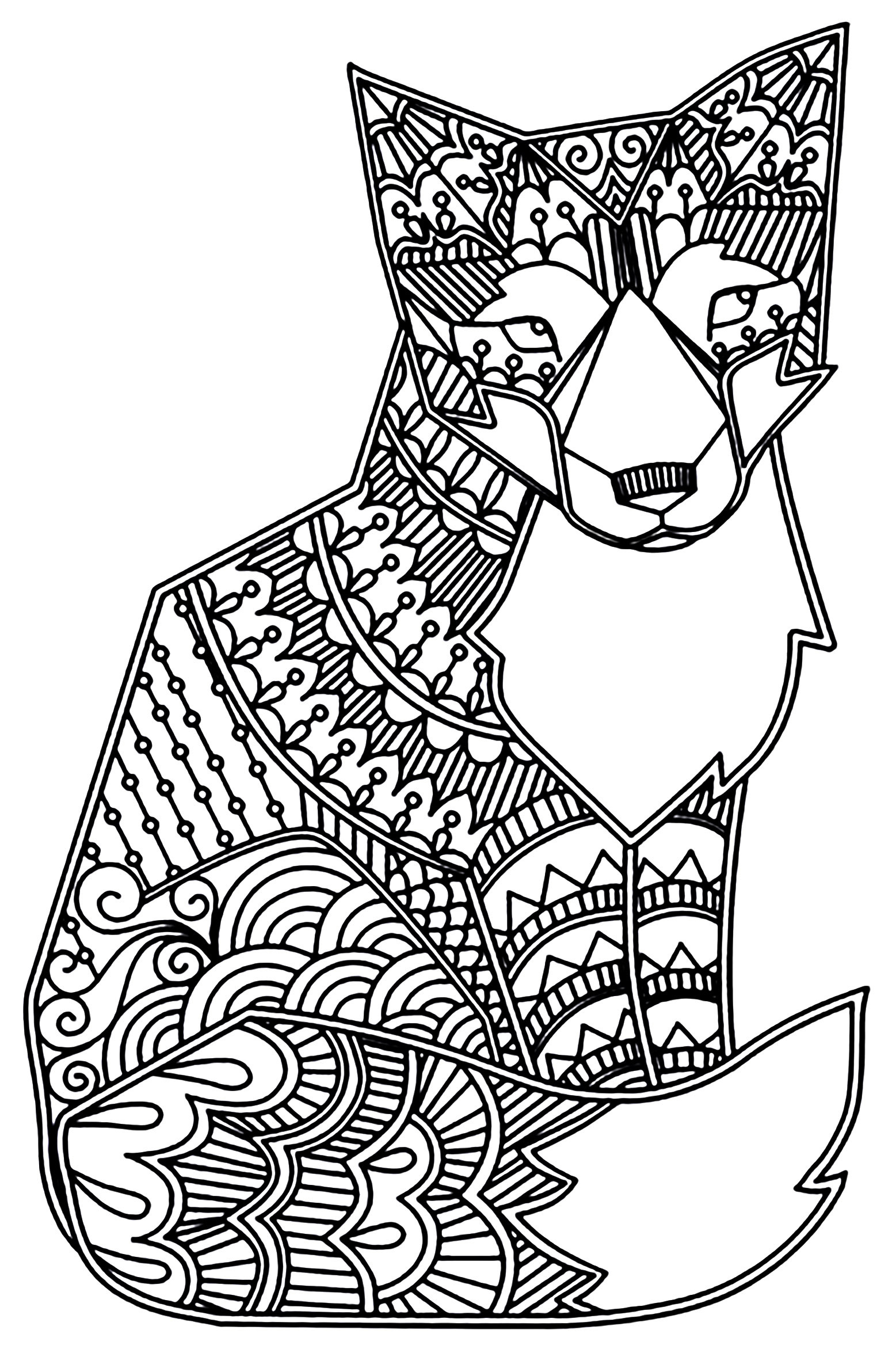Realistic Fox Coloring Pages  Printable 7m - Free Download