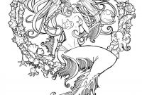 Realistic Mermaid Coloring Pages - Cordelia Jewel Of the Sea Line by Namtia On Deviantart