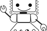 Robot Coloring Pages - 90 Best Robots Th¨me Images On Pinterest