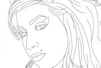 Rolling Stones Coloring Pages - Amy Winehouse British Singer Coloring Pages Hellokids