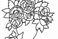 Rose Coloring Pages - Unique Cool Vases Flower Vase Coloring Page Pages Flowers In A top I