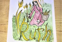 Ruth Coloring Pages - Ruth Coloring Page Biblical Women Bible Journaling