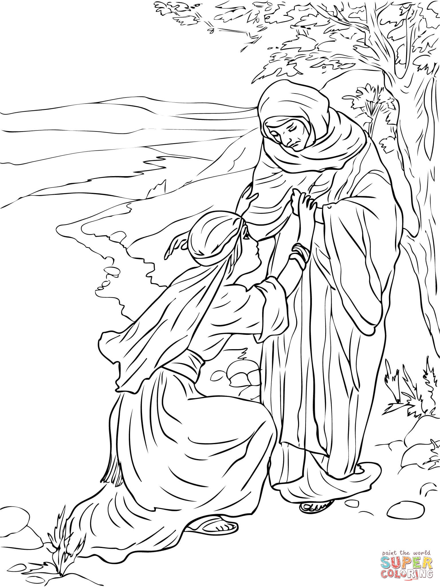 Ruth Coloring Pages  to Print 13l - To print for your project