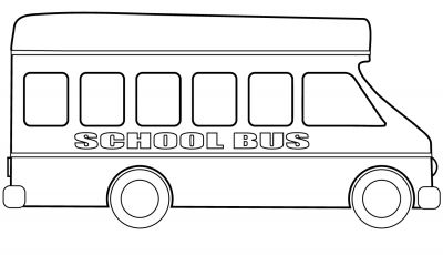 School Bus Coloring Pages Printable - School Bus Coloring