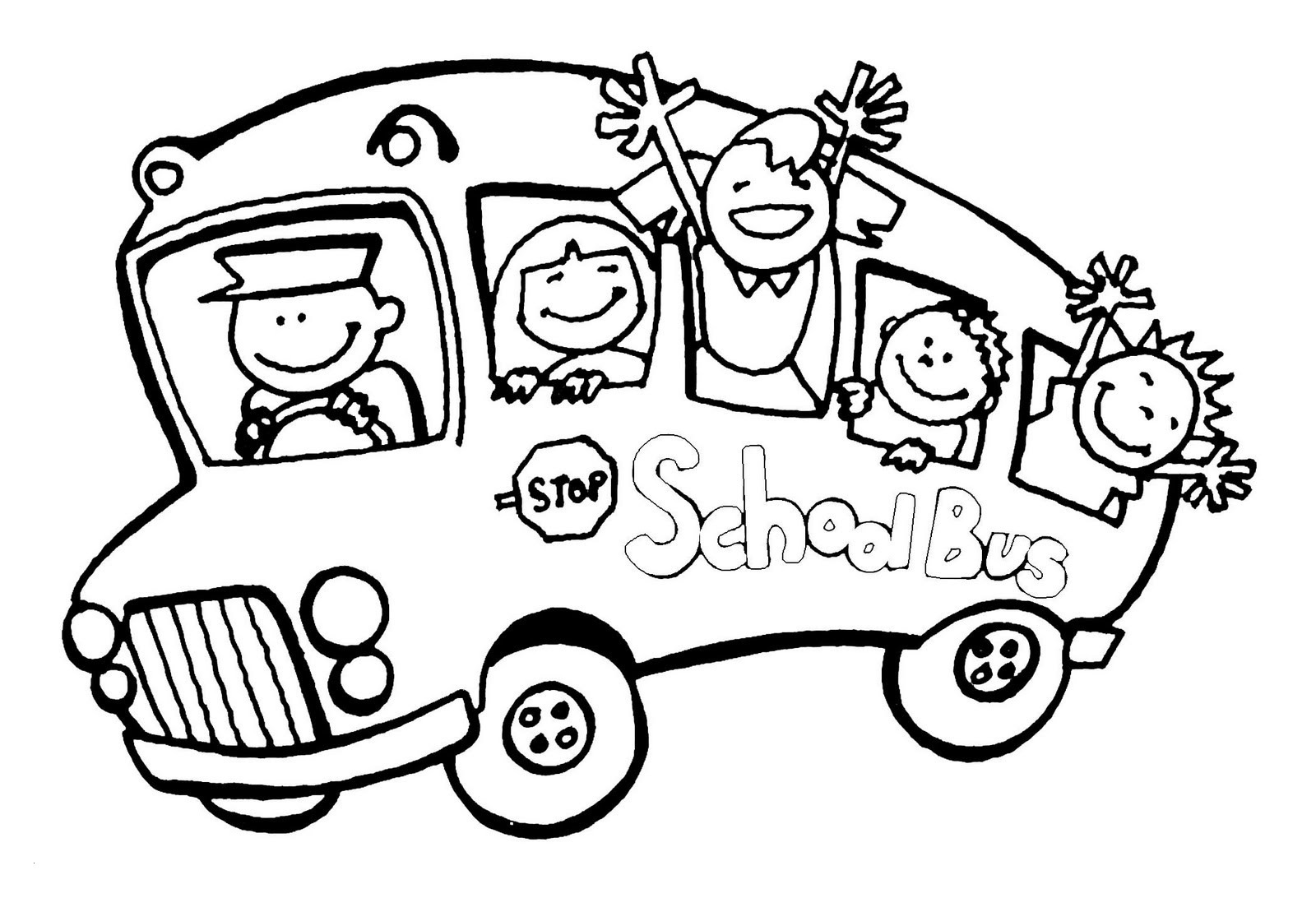 School Bus Coloring Pages Printable  Gallery 6k - Free Download