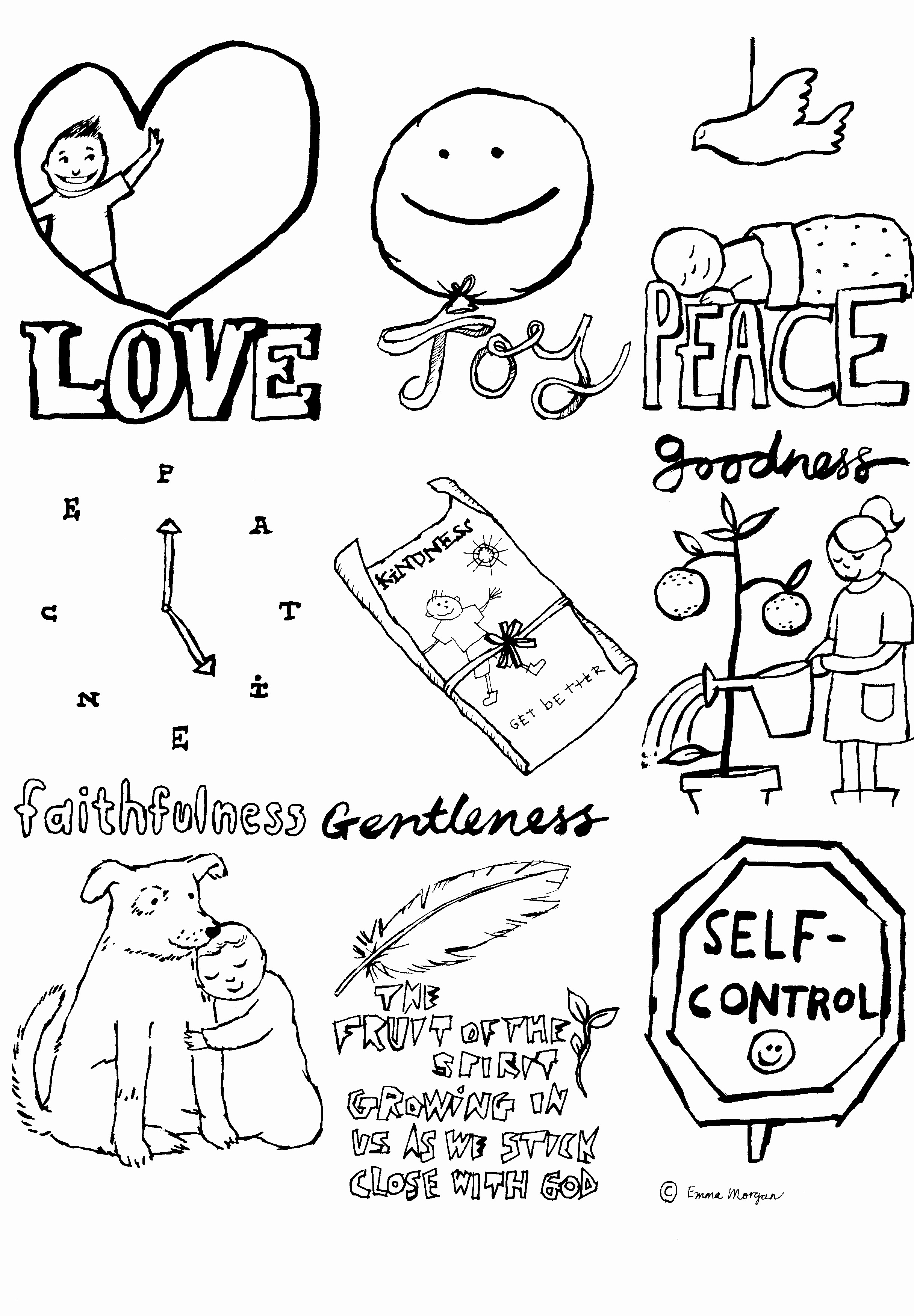Self Control Coloring Pages  Printable 10t - To print for your project