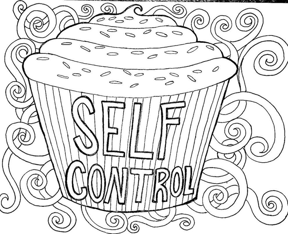 Self Control Coloring Pages  Printable 3c - To print for your project