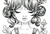 Shopping Coloring Pages - the Cute Devil Coloring Page Instant Download