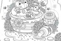 Shutterstock Coloring Pages - Lovely Adult Coloring Page Foo Bear Family Enjoy their Honey