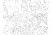 Shutterstock Coloring Pages - Marine Life Line Art Continuous Line Drawing Coloring Page