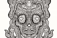 Skull Printable Coloring Pages - 11 Unique Sugar Skull Coloring Pages