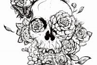 Skull Printable Coloring Pages - Coloring Pages Skulls and Roses Coloring Pages Coloring Pages
