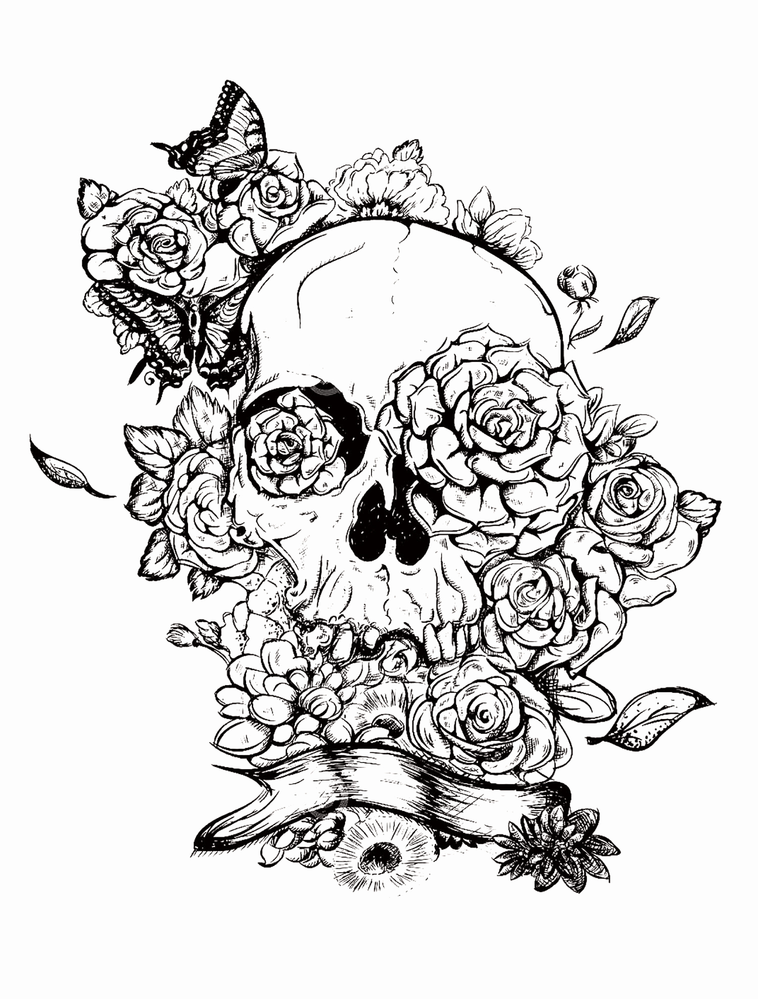 Skull Printable Coloring Pages  Collection 18r - Free For kids
