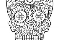 Skull Printable Coloring Pages - Skull Adult Coloring Pages – Free Coloring Sheets