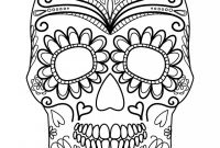 Skull Printable Coloring Pages - Sugar Skull Adult Coloring Pages to Print