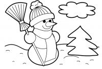 Snowmen Coloring Pages - Printable Christmas Coloring Pages Crafts Pinterest