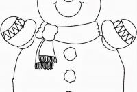 Snowmen Coloring Pages - Smilling Snowman Coloring Pages Free Christmas Crafts