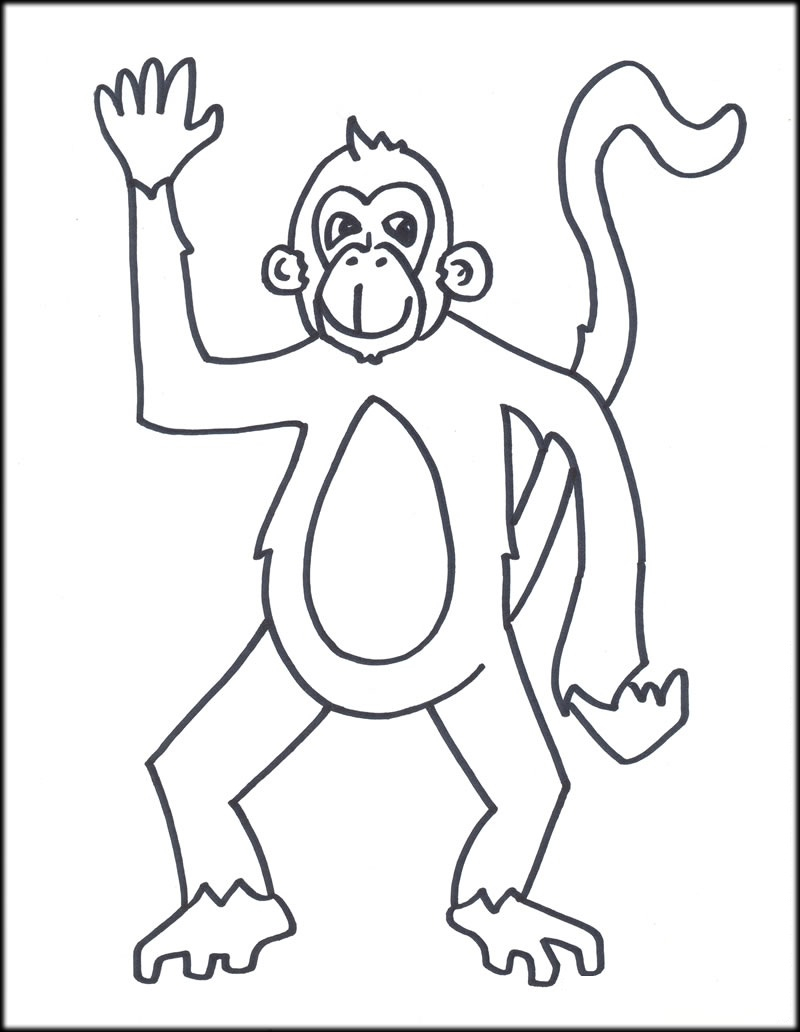 Sock Monkey Coloring Pages  Collection 4s - Save it to your computer