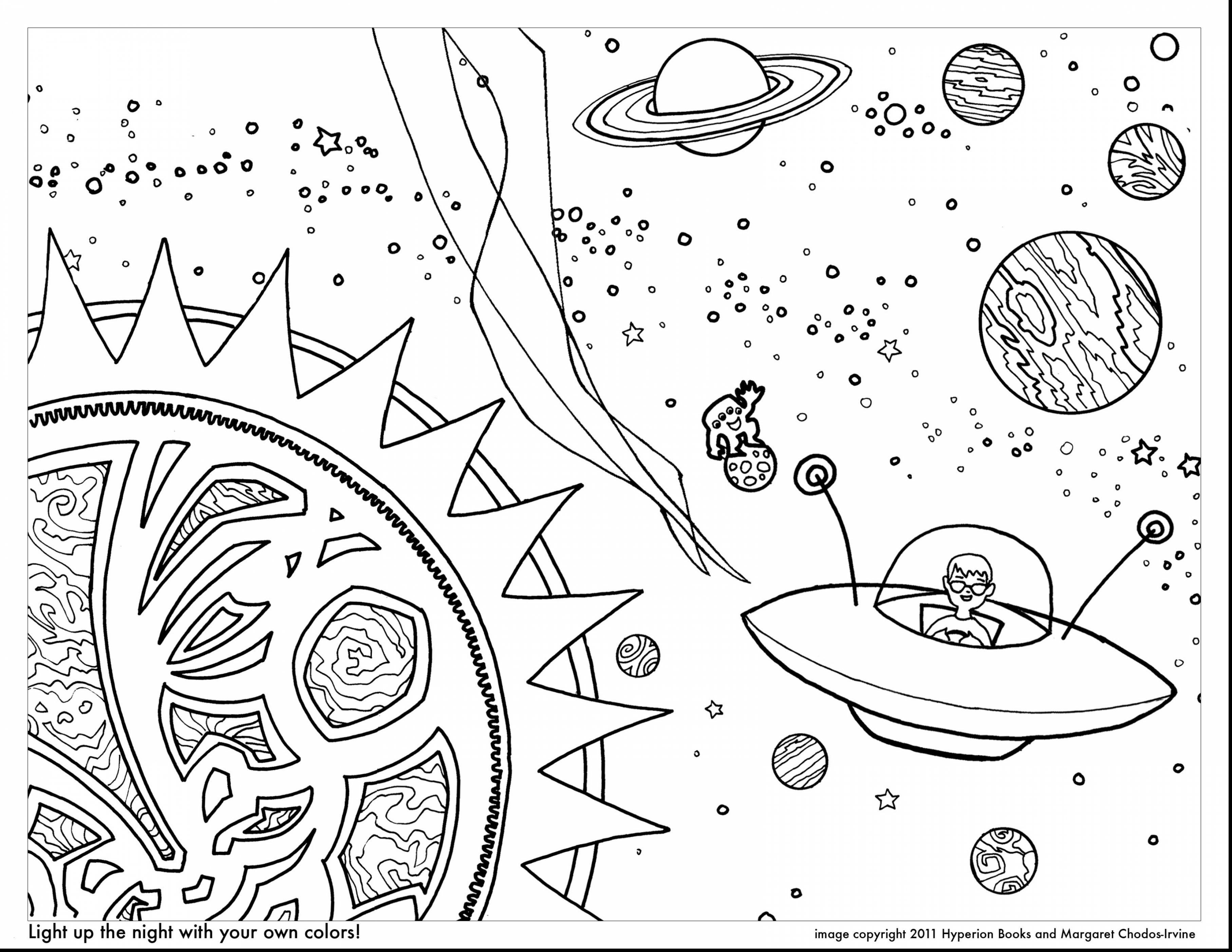 Solar System Planets Coloring Pages  to Print 1r - Free For kids