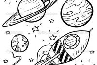 Solar System Planets Coloring Pages - Planet Coloring Pages Planets Rocket Stars Outer Space