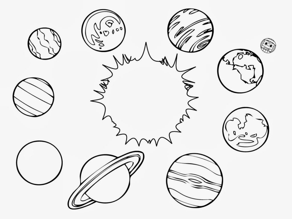 Solar System Planets Coloring Pages  to Print 19a - Free For kids