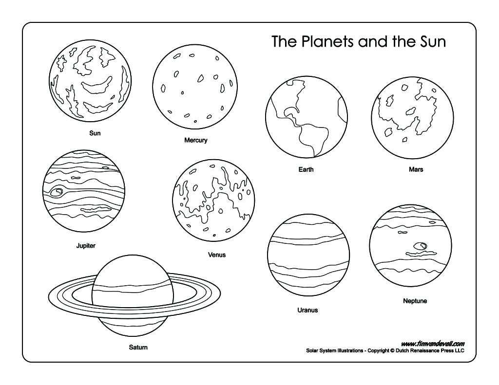 Solar System Planets Coloring Pages  to Print 14d - Free For kids